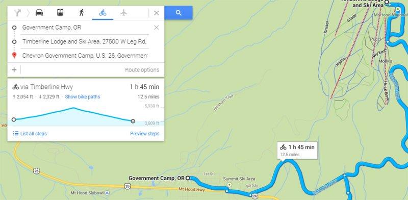 google maps elevation
