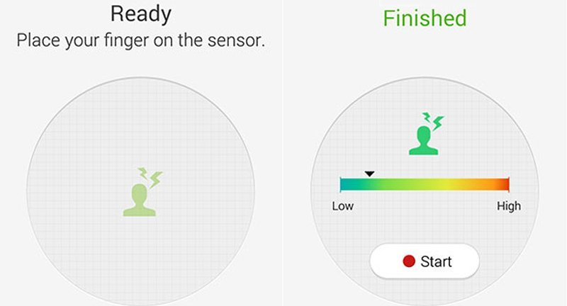 s health updated with stress meter