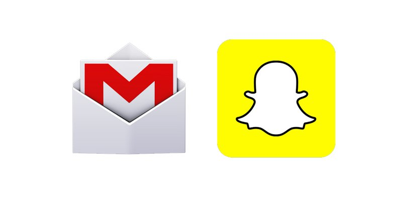 snapchat and gmail updated