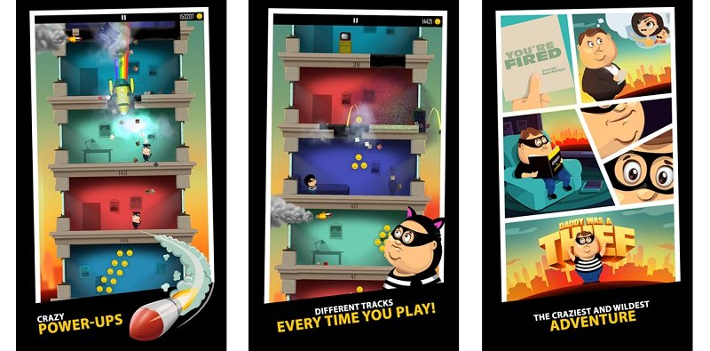 daddy was a thief lands on windows phone