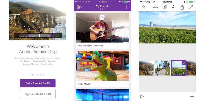 Adobe Premiere Clip launched for iPhone and iPad