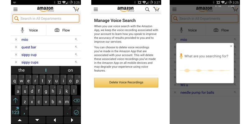 Amazon adds dedicated voice search to its Android app