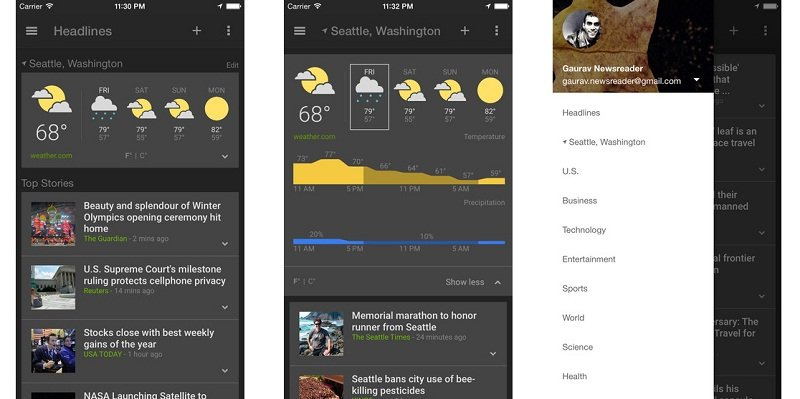 Google News and Weather app launched on iOS