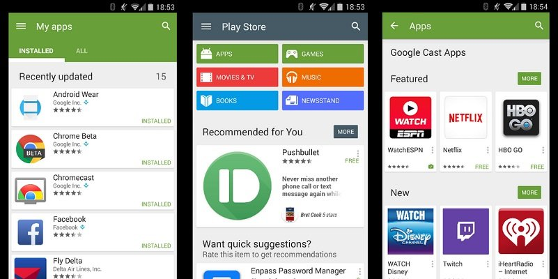 new play store material design