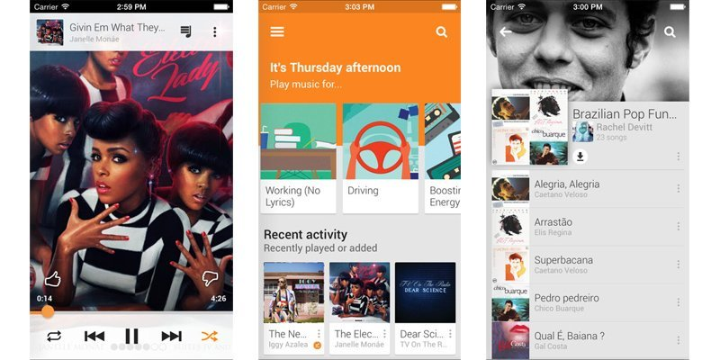 Google Play Music gets Material Design and Songza integration