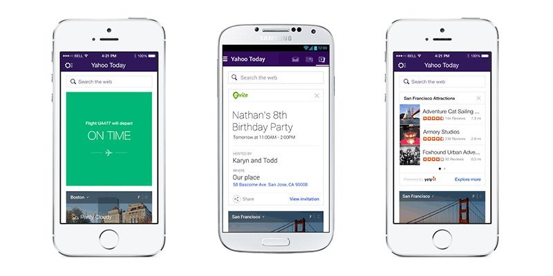 Yahoo Mail gets travel and event notifications, takes on Google Now