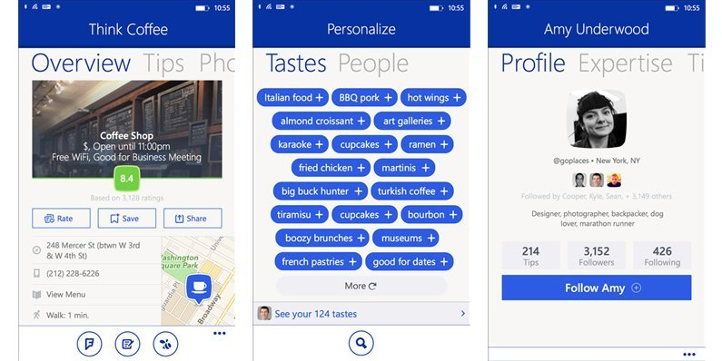 Foursquare pushed to version 4.0 on Windows Phone