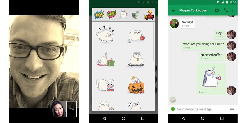 Hangouts for Android updated with Material Design, stickers and more