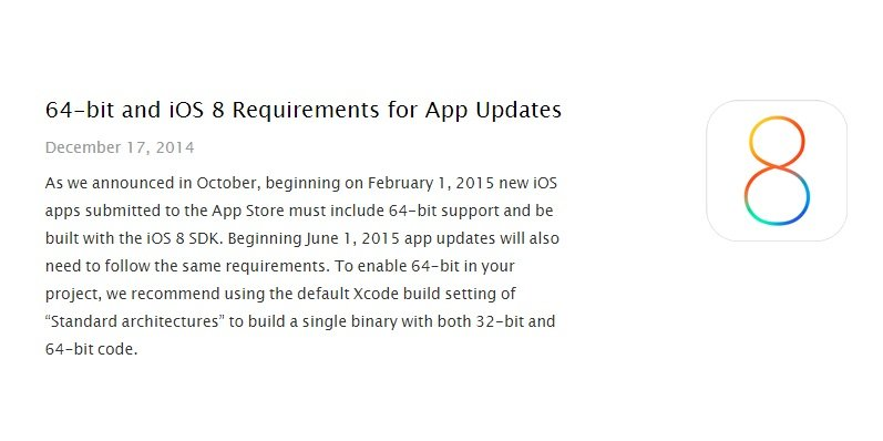 ios 64 bit apps