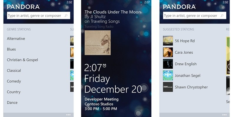 Pandora for Windows Phone updated with voice commands and more